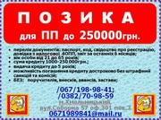 Кредит частным предпринимателям до 250000грн без залога